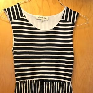 Olive and Oak stripped Navy/white dress